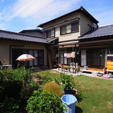 | 遮断熱モルタル外壁塗装 屋根漆喰 後 庭側