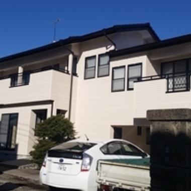 デザインALC外壁塗装・モニエル瓦屋根塗装 ALCコーキング工事後
