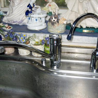 キッチンの水道カラン取替後