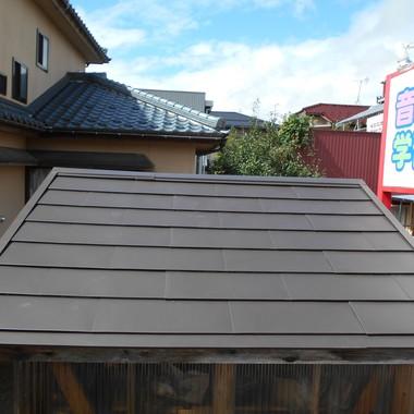 | 屋根工事・屋根の形を変更後