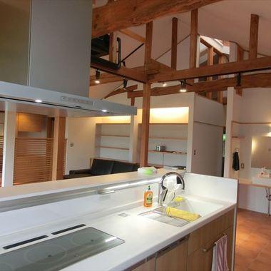 戸建てリフォ-ム後のキッチン