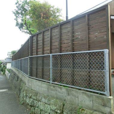前面道路に面した塀のリフォーム後
