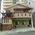 バルコニ-屋根と木造の屋根組にポリカの平板葺き工事 後 正面