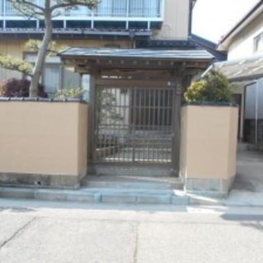 門の銅屋根交換後