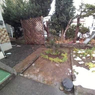 | 冬の庭支度 剪定