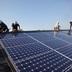 太陽光設置工事作業中