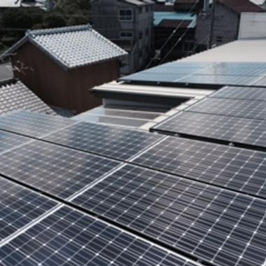 焼津市 太陽光発電導入 後 屋根 上から