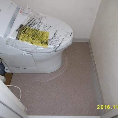 トイレの床段差解消工事 完了
