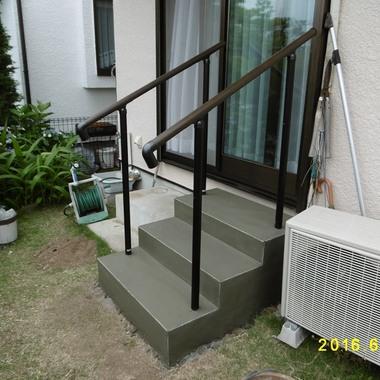 横浜市栄区 住宅改修 庭階段 施工後 別視点