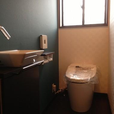 | トイレリフォーム後 便器 手洗い