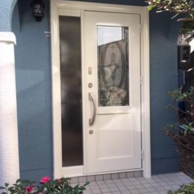 | ドア取付・交換外壁塗装後