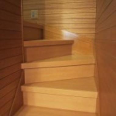 フローリング張替え後 階段