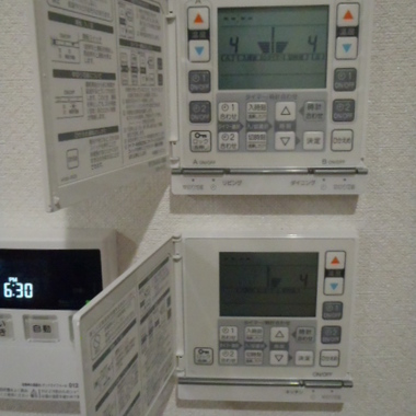 温水床暖房設置工事後