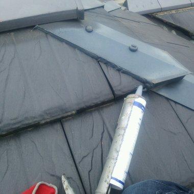 屋根修理工事 完了 シリコン注入