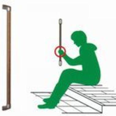 青森県 転倒予防 玄関用木製手すり イラスト
