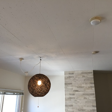 | 室内塗装&電気配線工事・照明交換後 照明取り付け