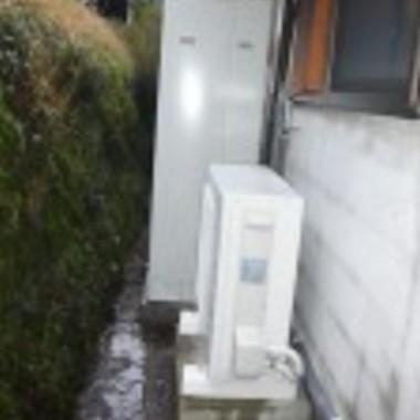 | 菊池市 オール電化工事 室外機