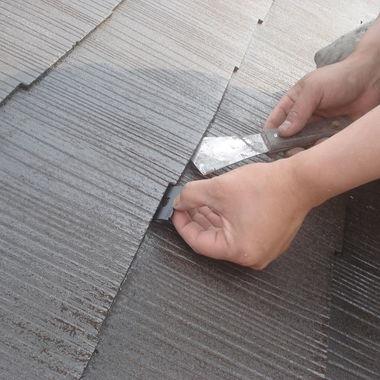 屋根 塗装作業1