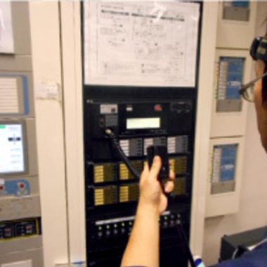 電気設備の点検工事後 操作パネル