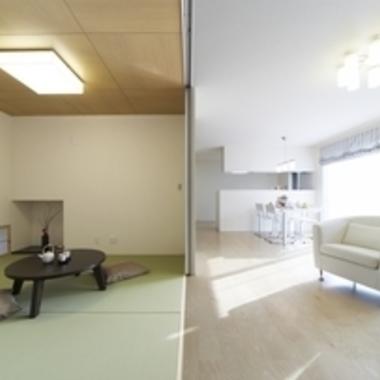 新築工事 和室・リビング