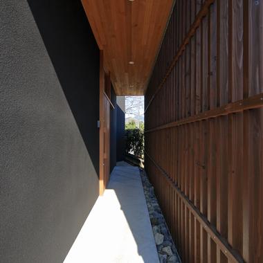 新築工事 玄関アプローチ