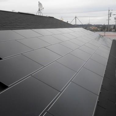 ソーラーパネル設置後屋根