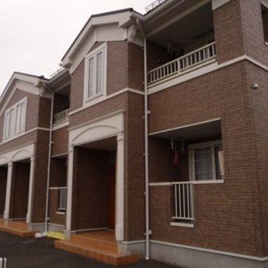 屋根・外壁塗装中 集合住宅外観