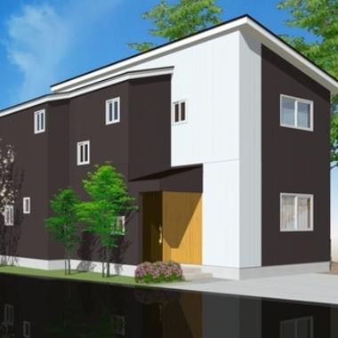 新築工事後 住宅外観 絵