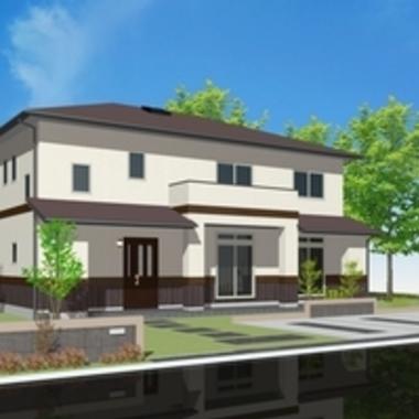 | 新築工事後 住宅外観 絵