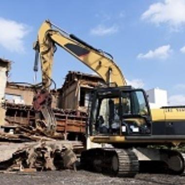 鉄骨住宅 解体工事作業 重機