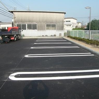 駐車場工事完成後
