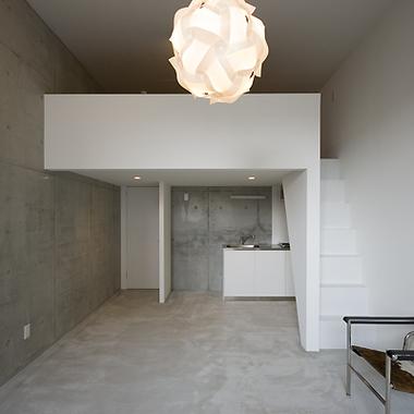 | 新築工事 アパート リビング