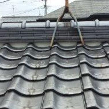 屋根面戸漆喰補修後 屋根