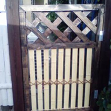 戸の補強・補修後 戸