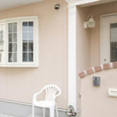 住宅玄関ポーチ 塗装後