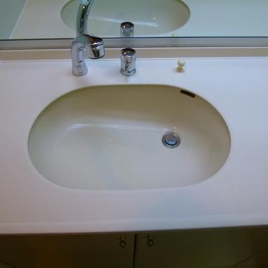 洗面台 強化研磨後