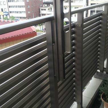| 物干し取付工事のベランダ柵