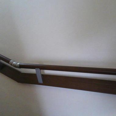 階段手摺のアップ