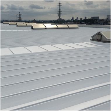 遮熱塗装工事後の屋根
