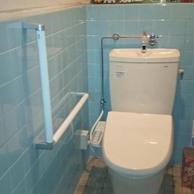 | 施工後の洋式トイレ