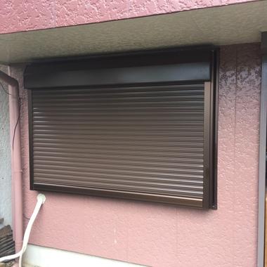 シャッター付きサッシ取替後の窓