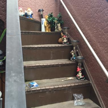 手すり取り付け後の階段