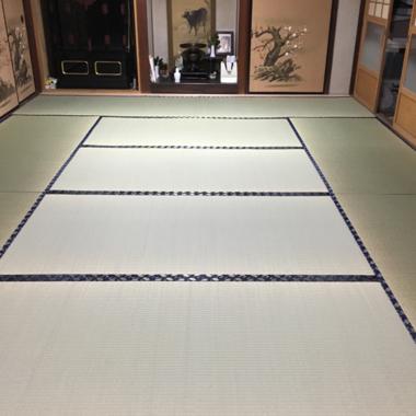 完成後の12畳の和室 正面