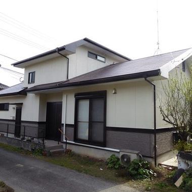外壁塗装後 屋根 の住宅外観