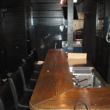 施工後のカウンター席