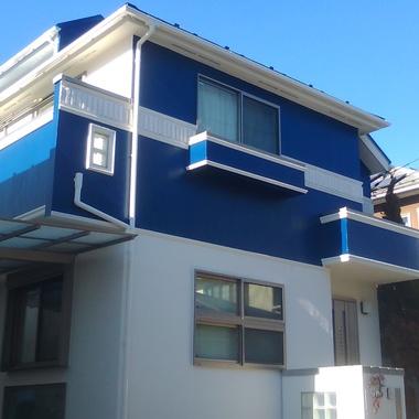 | 塗装後の住宅外観