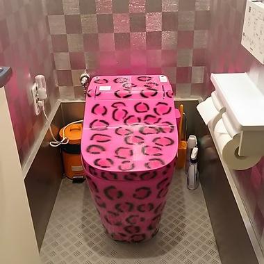 | ステージアップ オリジナル!!ヒョウ柄のトイレの施工後写真(0枚目)