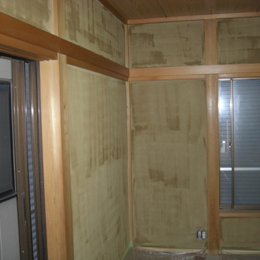 既存聚楽壁塗替え工事(四国化成ジュラックスC)の施工後写真(0枚目)