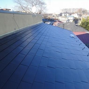 屋根の上葺きで簡単リフォームの施工後写真(0枚目)