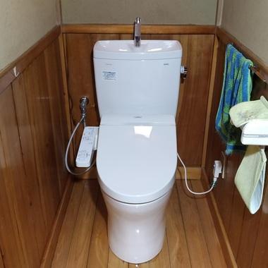 | ウォシュレット故障がきっかけに節水トイレにリフォームの施工後写真(0枚目)